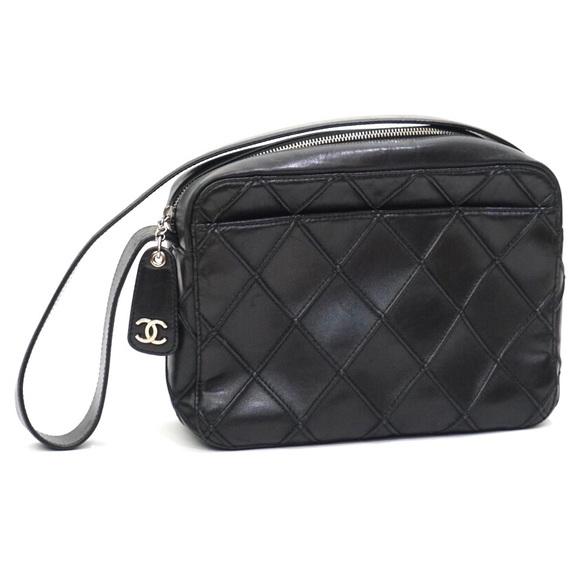 d8c211314fe4 CHANEL Handbags - Chanel Black Quilted Leather Camera Shoulder Bag